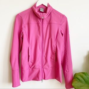 Nike Fit Dry Pink Zip Track Stretch Jacket Size M